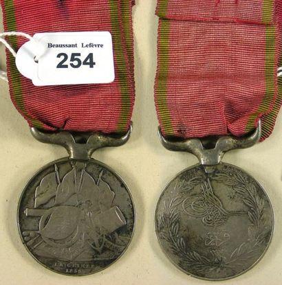 Second Empire - Turquie, médaille de Crimée...
