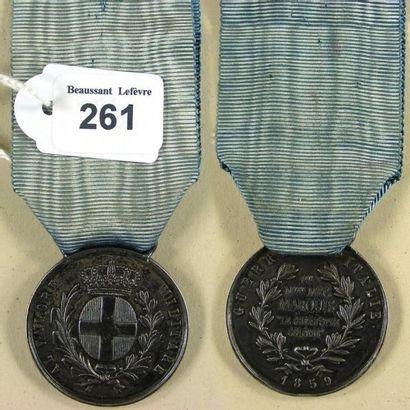 Second Empire - Sardaigne, médaille de la...