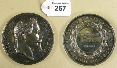 Second Empire - Médaille du Corps Législatif...