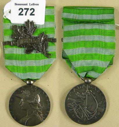 Médaille de Madagascar 1895, 2e expédition,...