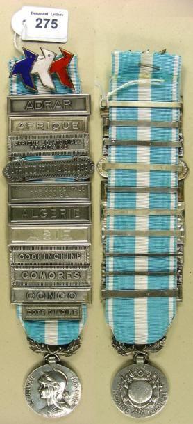Médaille coloniale à bélière biface, du 1er...