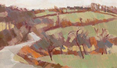 Jean LE MERDY (né en 1928) Paysage, 1971 Huile sur toile, signée et datée 71 en bas...
