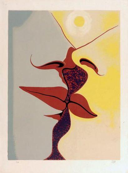 André MASSON Composition (Prométhée?), aquatinte, 20,5 x 17 cm, marges 24 x 21 cm,...