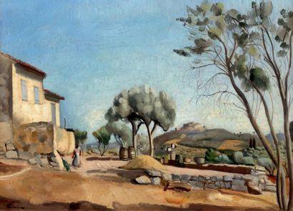 Edmond CERIA (1884-1955) Paysage de Provence Huile sur toile, signée en bas à gauche....