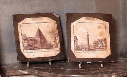 Rome, « La colonne Trajane » et « La pyramide...