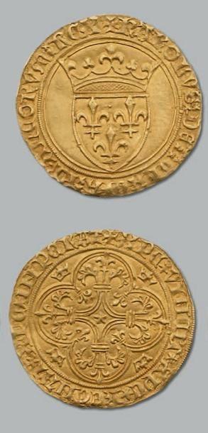 Écu d'or à la couronne. Poitiers. D. 369....