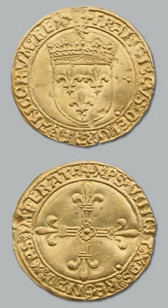 Écu d'or au soleil. 1er type. Lyon. D. 769....