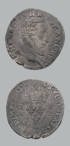 Teston. 2e type. 1554. Toulouse. D. 983....