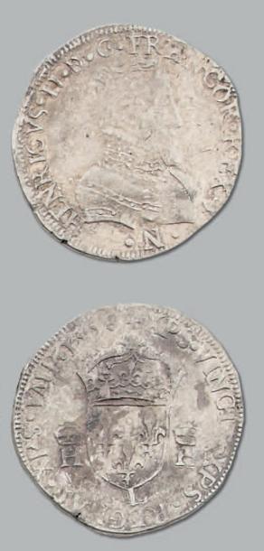 Teston. 2e type. 1558. Bayonne. D. 983. ...