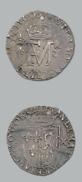 Demi-teston. 1560. Frappé en Écosse. D. 1040....