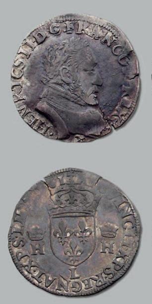 Teston. 3e type au nom d'Henri II. 1561....
