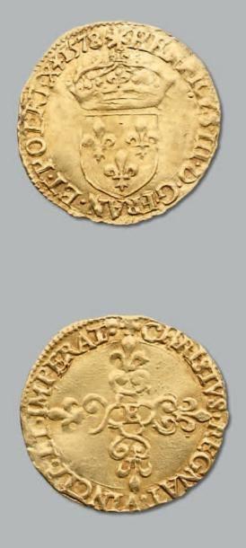 Écu d'or au soleil. 1578. Tours. D. 1121....