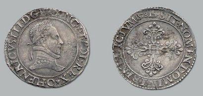 Franc au col plat. 1578. Riom. D. 1130. Très...