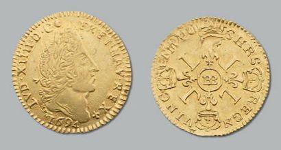 Louis d'or aux quatre L. 1694. Strasbourg....