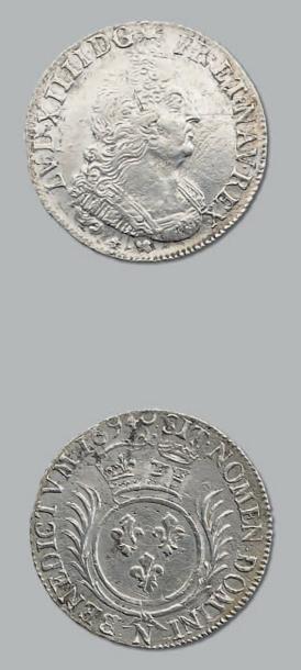 Quart d'écu aux palmes. 1694. Montpellier....