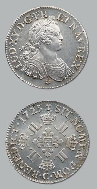 Écu aux huit L. 1725. Caen. D. 1670. Flan...