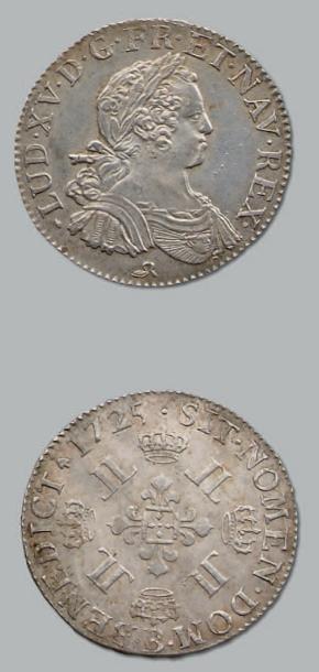 Demi-écu aux huit L. 1725. Rouen. D. 1671....