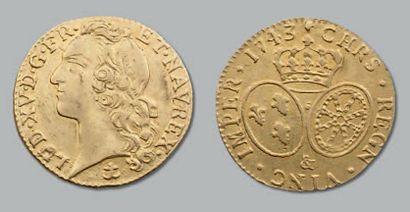 Louis d'or au bandeau. 1743. Aix. D. 1643....