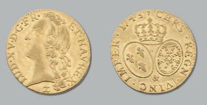 Louis d'or au bandeau. 1745. Aix. D. 1643....
