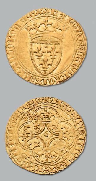 Écu d'or à la couronne. Tours. D. 369. TTB...
