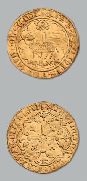 Agnel d'or. Crémieu. D. 372. Flan large....