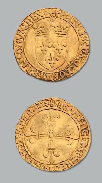 Écu d'or au soleil, 1er type. Lyon. D. 769....