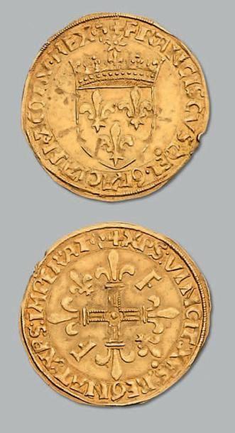 Écu d'or au soleil, 5e type. Lyon. D. 775....