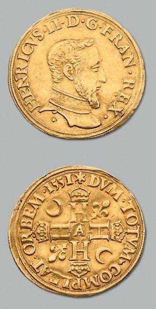 Double Henri d'or, 1er type. 1551. Paris....