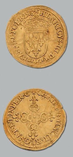 Écu d'or au soleil. 1578. Toulouse. D. 1121....