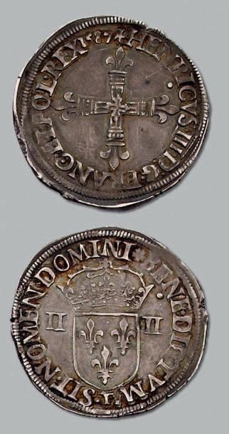 Quart d'écu. 1587. Nantes. D. 1133. Pr. ...