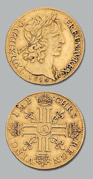 Double louis d'or de Warin. 1640. Paris....
