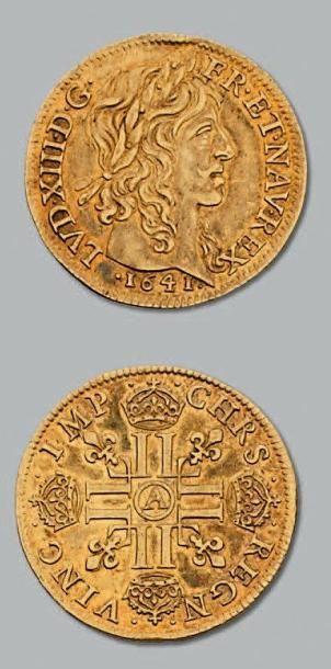 Louis d'or de Warin, mèche longue. 1641....