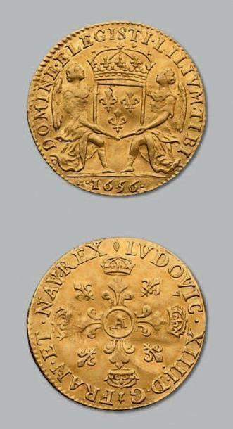Lis d'or. 1656. Paris. D. 1424. Rare et TTB...