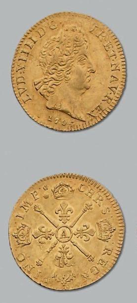 Louis d'or aux insignes. 1704. Paris. Réf....