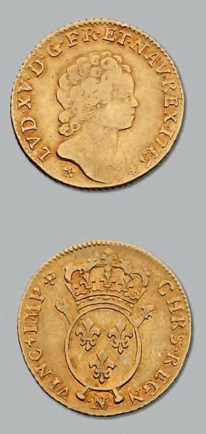 Louis d'or aux insignes. 1726. Montpellier....