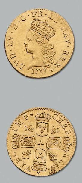 Demi louis d'or de Noailles. 1717. Paris....