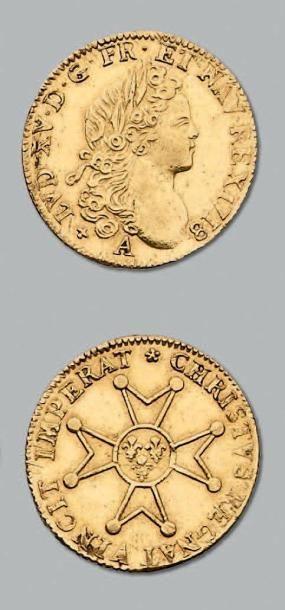 Louis d'or à la croix du Saint-Esprit. 1758....