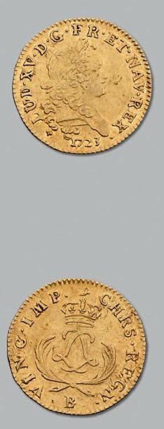 Louis d'or mirliton. Palmes courtes. 1723....