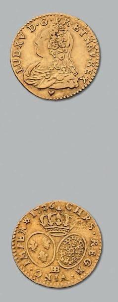Demi louis d'or aux lunettes. 1726. Strasbourg....