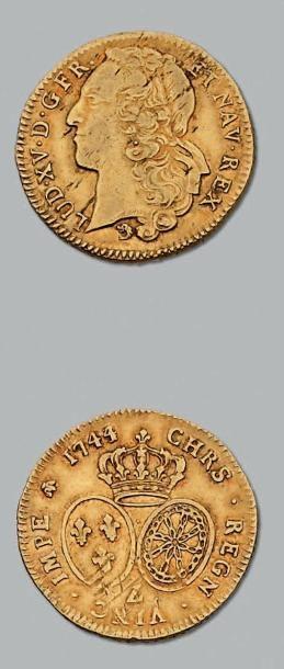 Double louis au bandeau. 1744. Grenoble....