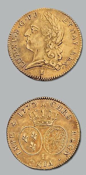 Double louis d'or à la vieille tête. 1772....
