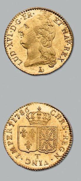 Louis d'or au buste nu. 1786. Nantes. D....