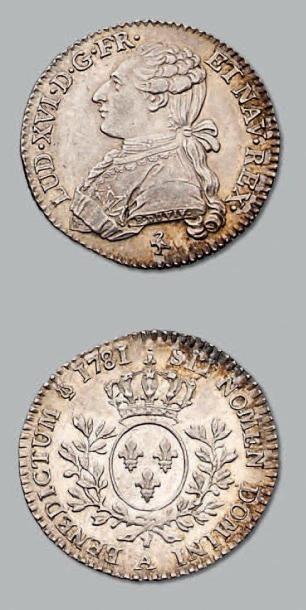 Cinquième d'écu aux rameaux d'olivier. 1781....