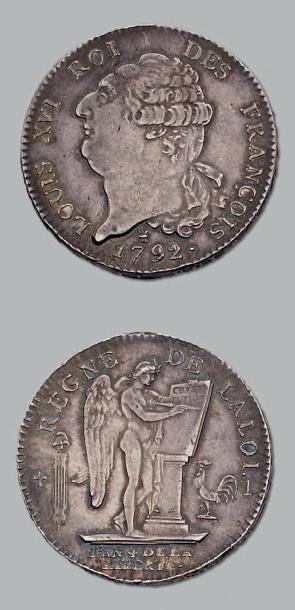 Écu constitutionnel. 1792. Limoges. D. 1718....