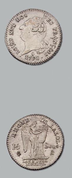15 Sols constitutionnels. 1791. Paris. D....