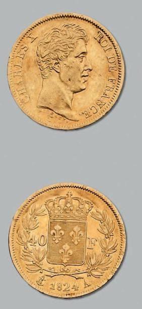 40 Francs or. 1824. Paris. G. 1105. TTB....