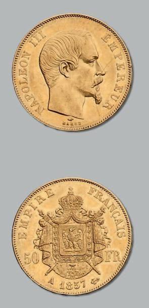 50 Francs or, tête nue. 1857. Paris. G. 1111....