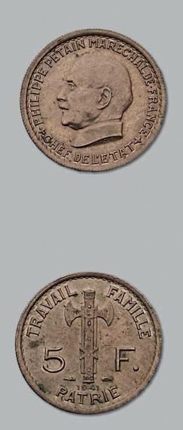 5 Francs, Maréchal Pétain. 1941. G. 764....