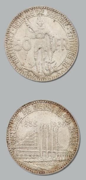 50 Francs. 1935. kM. 106.1 Superbe. BELG...