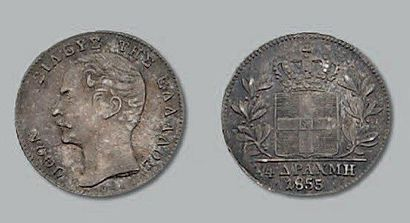 Quart de drachme. 1855. kM. 33. Pr. superbe....